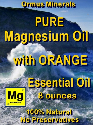 Ormus Minerals -Pure Magnesium Oil with ORANGE EO