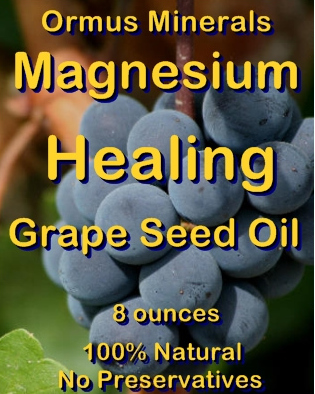 Ormus Minerals -Healing Grape Seed Oil with Ormus