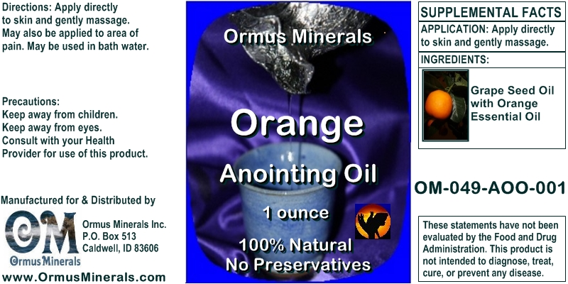 Ormus Minerals Orange Anointing Oil 1 oz