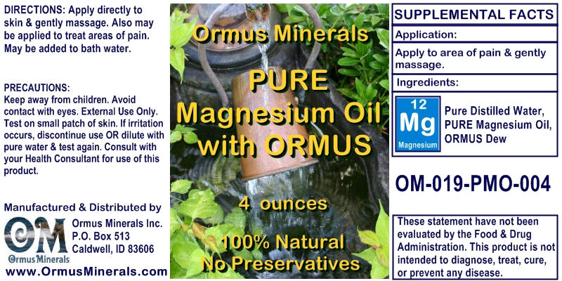 Magnesium OIl with Prill Water